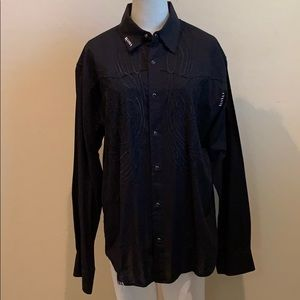 191 Unlimited Embroidered Button Down Shirt (XL)